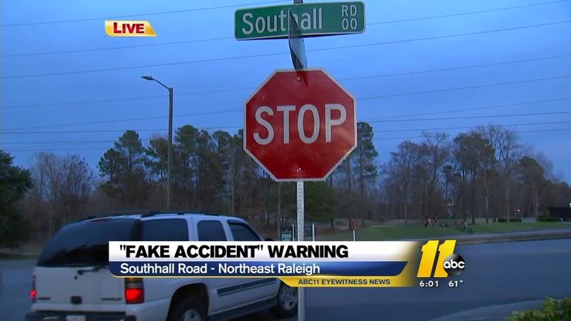 Fake accident warning