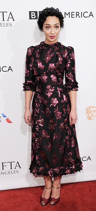 <div class='meta'><div class='origin-logo' data-origin='none'></div><span class='caption-text' data-credit='Richard Shotwell/Invision/AP'>Ruth Negga attends the 2017 BAFTA Los Angeles Awards Season Tea Party held at Four Seasons Hotel on Saturday, Jan. 7, 2017, in Los Angeles.</span></div>