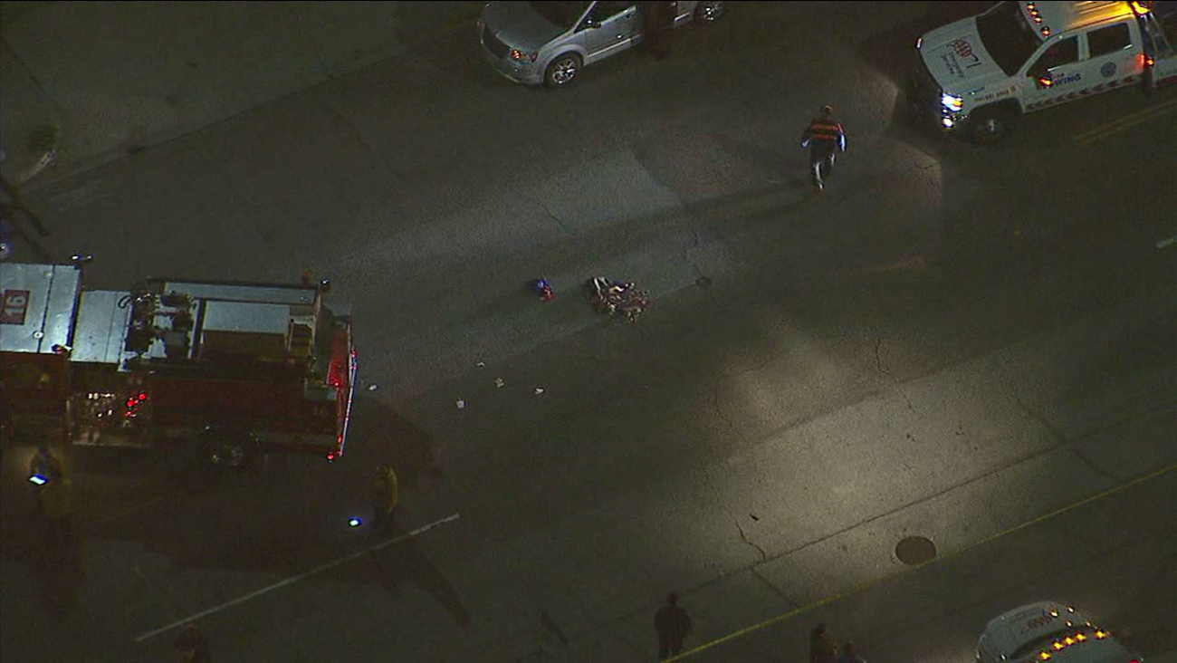 A woman carrying a child was struck in a hit-and-run in El Sereno.