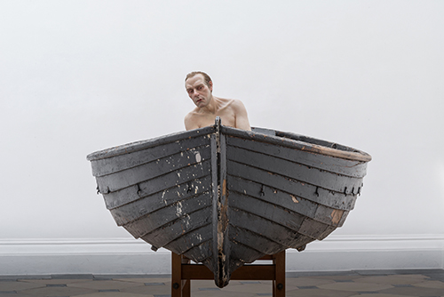 "<div class=""meta image-caption""><div class=""origin-logo origin-image ktrk""><span>KTRK</span></div><span class=""caption-text"">Ron Mueck, Man in a Boat, 2002, mixed media, Courtesy Anthony d'Offay, London. © Ron Mueck</span></div>"