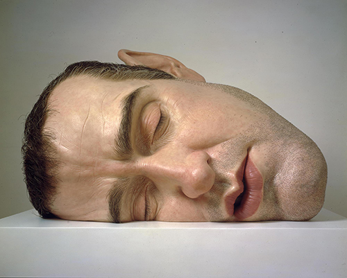 "<div class=""meta image-caption""><div class=""origin-logo origin-image ktrk""><span>KTRK</span></div><span class=""caption-text"">Ron Mueck, Mask II, 2001–02, mixed media, Gift of Helen and Charles Schwab through the Art Supporting Foundation to the San Francisco Museum of Modern Art. © Ron Mueck</span></div>"