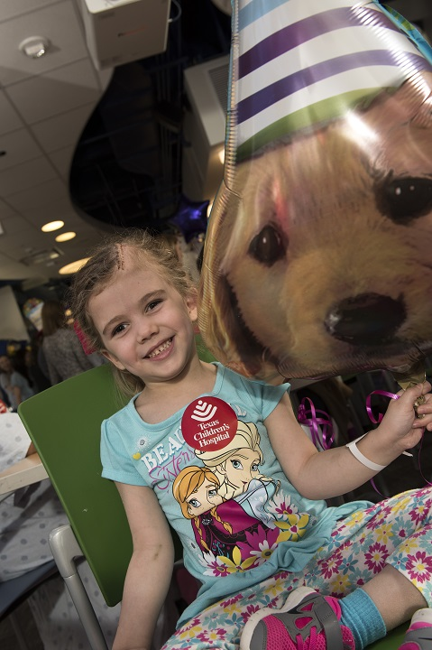Texas Children's throws 'paw'fect party for therapy dog ...