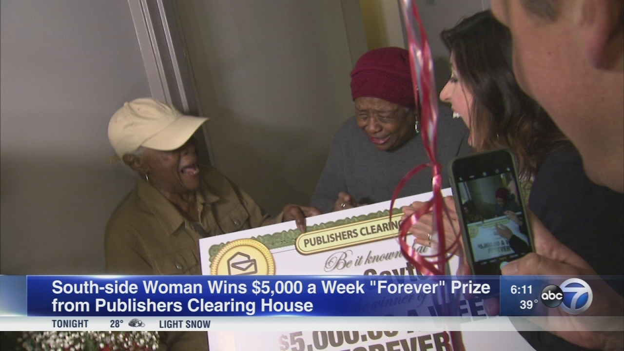 5000 dollars a week for life sweepstakes clearinghouse