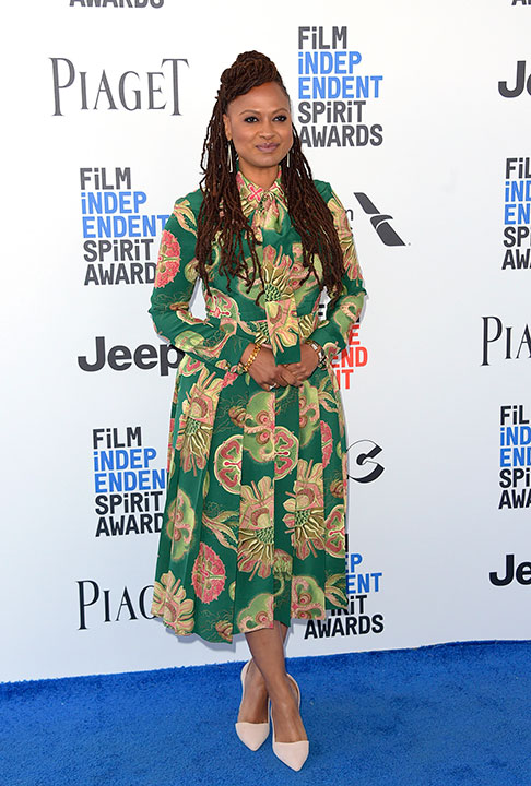 "<div class=""meta image-caption""><div class=""origin-logo origin-image none""><span>none</span></div><span class=""caption-text"">Ava DuVernay arrives at the Film Independent Spirit Awards on Saturday, Feb. 25, 2017, in Santa Monica, Calif. (Richard Shotwell/Invision/AP)</span></div>"