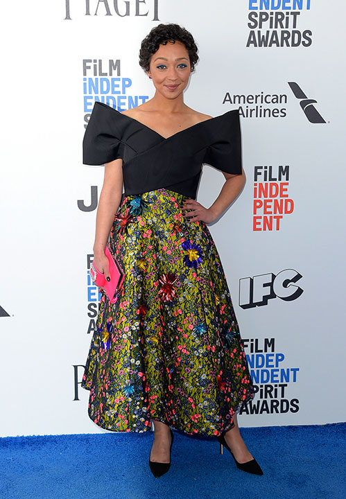 "<div class=""meta image-caption""><div class=""origin-logo origin-image none""><span>none</span></div><span class=""caption-text"">Ruth Negga arrives at the Film Independent Spirit Awards on Saturday, Feb. 25, 2017, in Santa Monica, Calif. (Richard Shotwell/Invision/AP)</span></div>"