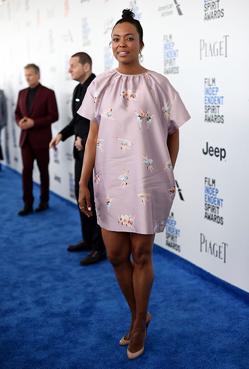 "<div class=""meta image-caption""><div class=""origin-logo origin-image none""><span>none</span></div><span class=""caption-text"">Aisha Tyler arrives at the Film Independent Spirit Awards on Saturday, Feb. 25, 2017, in Santa Monica, Calif. (Richard Shotwell/Invision/AP)</span></div>"