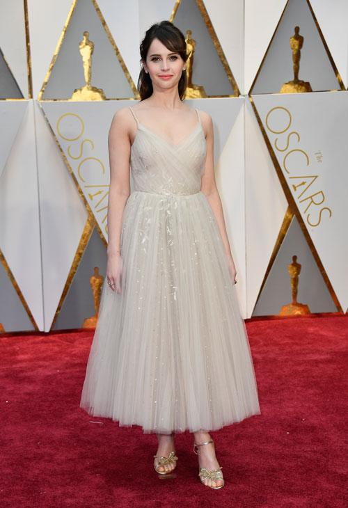 "<div class=""meta image-caption""><div class=""origin-logo origin-image none""><span>none</span></div><span class=""caption-text"">Actor Felicity Jones attends the 89th Annual Academy Awards at Hollywood & Highland Center on February 26, 2017 in Hollywood, California. (Photo by Frazer Harrison/Getty Images)</span></div>"