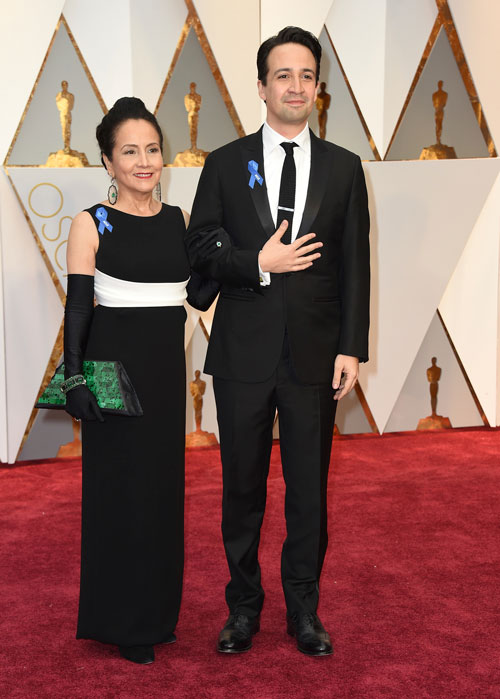<div class='meta'><div class='origin-logo' data-origin='AP'></div><span class='caption-text' data-credit='Photo by Jordan Strauss/Invision/AP'>Luz Towns-Miranda, left, and Lin-Manuel Miranda arrive at the Oscars on Sunday, Feb. 26, 2017, at the Dolby Theatre in Los Angeles.</span></div>