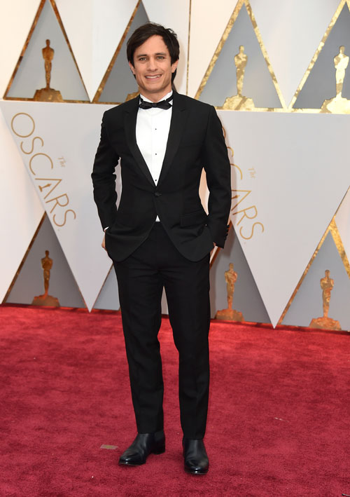 """<div class=""""meta image-caption""""><div class=""""origin-logo origin-image ap""""><span>AP</span></div><span class=""""caption-text"""">Gael García Bernal arrives at the Oscars on Sunday, Feb. 26, 2017, at the Dolby Theatre in Los Angeles. (Photo by Jordan Strauss/Invision/AP)</span></div>"""
