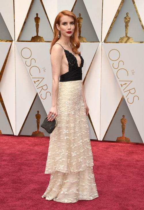 """<div class=""""meta image-caption""""><div class=""""origin-logo origin-image ap""""><span>AP</span></div><span class=""""caption-text"""">Emma Roberts arrives at the Oscars on Sunday, Feb. 26, 2017, at the Dolby Theatre in Los Angeles. (Photo by Jordan Strauss/Invision/AP)</span></div>"""