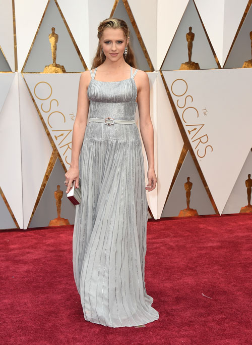 """<div class=""""meta image-caption""""><div class=""""origin-logo origin-image ap""""><span>AP</span></div><span class=""""caption-text"""">Teresa Palmer arrives at the Oscars on Sunday, Feb. 26, 2017, at the Dolby Theatre in Los Angeles. (Photo by Jordan Strauss/Invision/AP)</span></div>"""