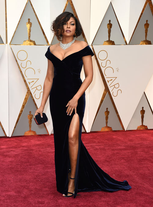 "<div class=""meta image-caption""><div class=""origin-logo origin-image ap""><span>AP</span></div><span class=""caption-text"">Taraji P. Henson arrives at the Oscars on Sunday, Feb. 26, 2017, at the Dolby Theatre in Los Angeles. (Photo by Jordan Strauss/Invision/AP)</span></div>"