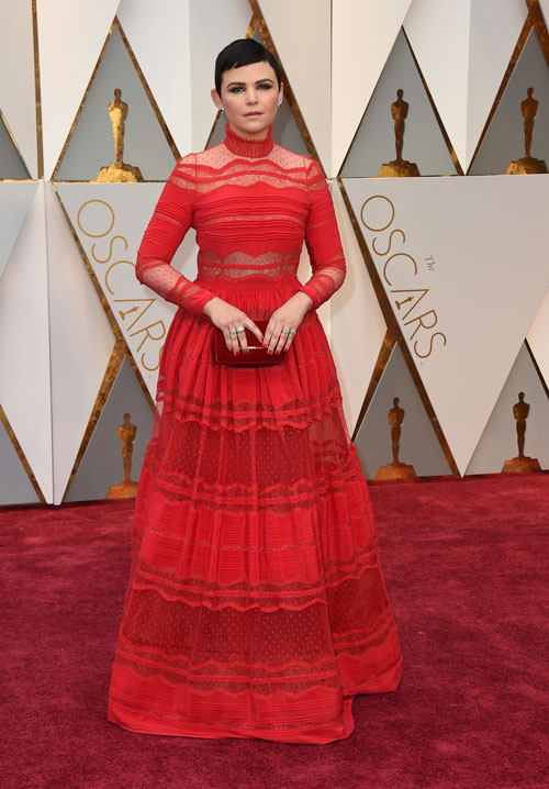 <div class='meta'><div class='origin-logo' data-origin='AP'></div><span class='caption-text' data-credit='Photo by Jordan Strauss/Invision/AP'>Ginnifer Goodwin arrives at the Oscars on Sunday, Feb. 26, 2017, at the Dolby Theatre in Los Angeles.</span></div>