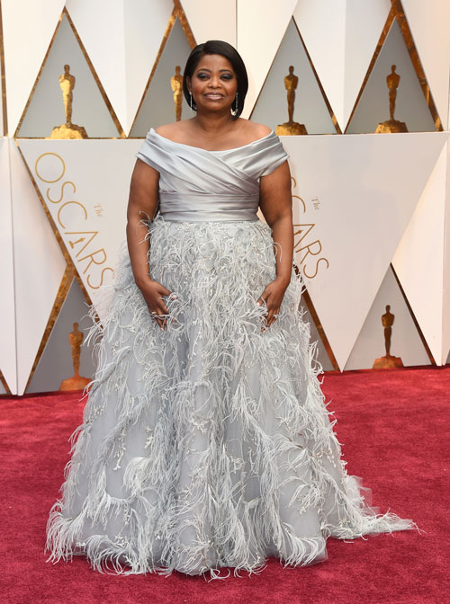 <div class='meta'><div class='origin-logo' data-origin='AP'></div><span class='caption-text' data-credit='Photo by Jordan Strauss/Invision/AP'>Octavia Spencer arrives at the Oscars on Sunday, Feb. 26, 2017, at the Dolby Theatre in Los Angeles.</span></div>