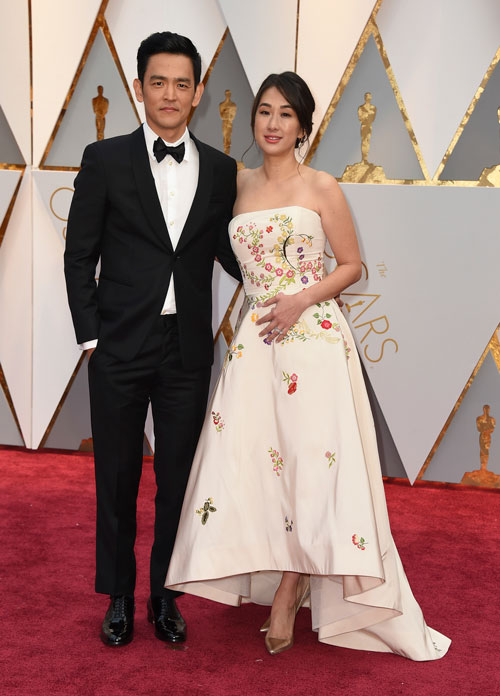 <div class='meta'><div class='origin-logo' data-origin='AP'></div><span class='caption-text' data-credit='Photo by Jordan Strauss/Invision/AP'>John Cho, left, and Kerri Higuchi arrive at the Oscars on Sunday, Feb. 26, 2017, at the Dolby Theatre in Los Angeles.</span></div>