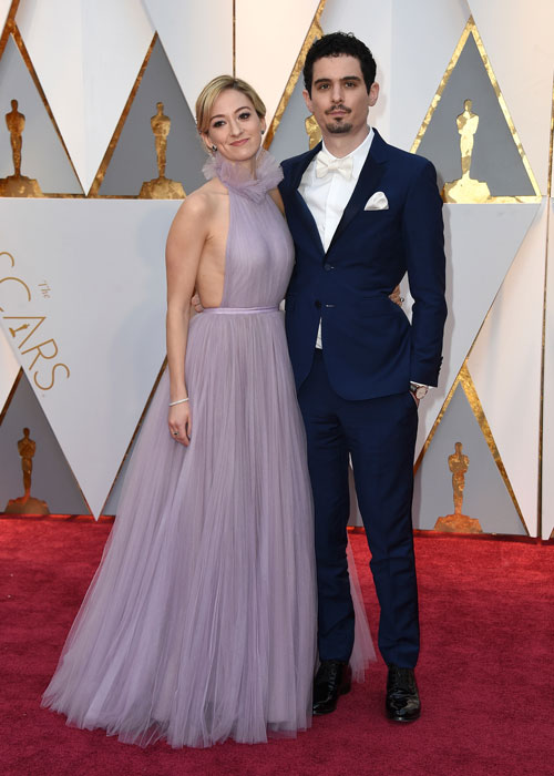 "<div class=""meta image-caption""><div class=""origin-logo origin-image ap""><span>AP</span></div><span class=""caption-text"">Olivia Hamilton, left, and Damien Chazelle arrive at the Oscars on Sunday, Feb. 26, 2017, at the Dolby Theatre in Los Angeles. (Photo by Jordan Strauss/Invision/AP)</span></div>"