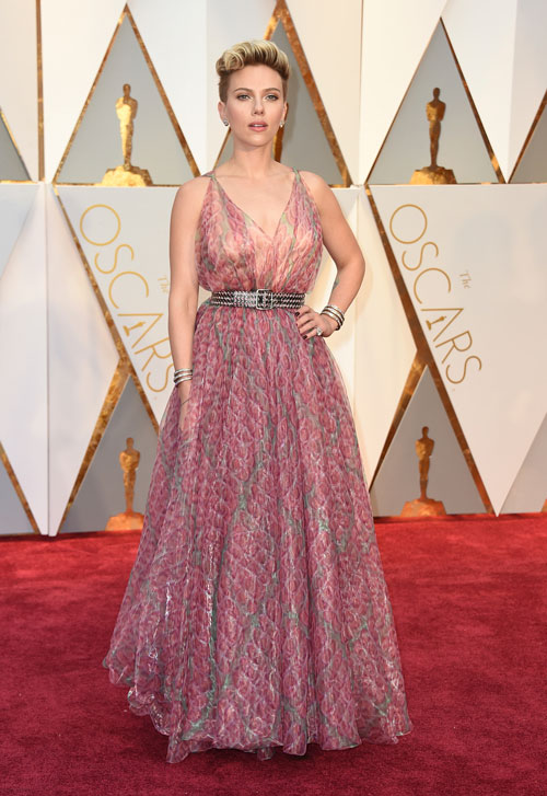 """<div class=""""meta image-caption""""><div class=""""origin-logo origin-image ap""""><span>AP</span></div><span class=""""caption-text"""">Scarlett Johansson arrives at the Oscars on Sunday, Feb. 26, 2017, at the Dolby Theatre in Los Angeles. (Photo by Jordan Strauss/Invision/AP)</span></div>"""