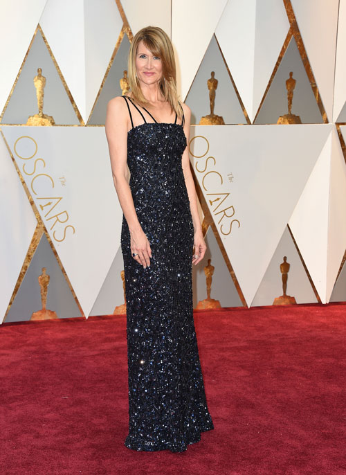 <div class='meta'><div class='origin-logo' data-origin='AP'></div><span class='caption-text' data-credit='Photo by Jordan Strauss/Invision/AP'>Laura Dern arrives at the Oscars on Sunday, Feb. 26, 2017, at the Dolby Theatre in Los Angeles.</span></div>