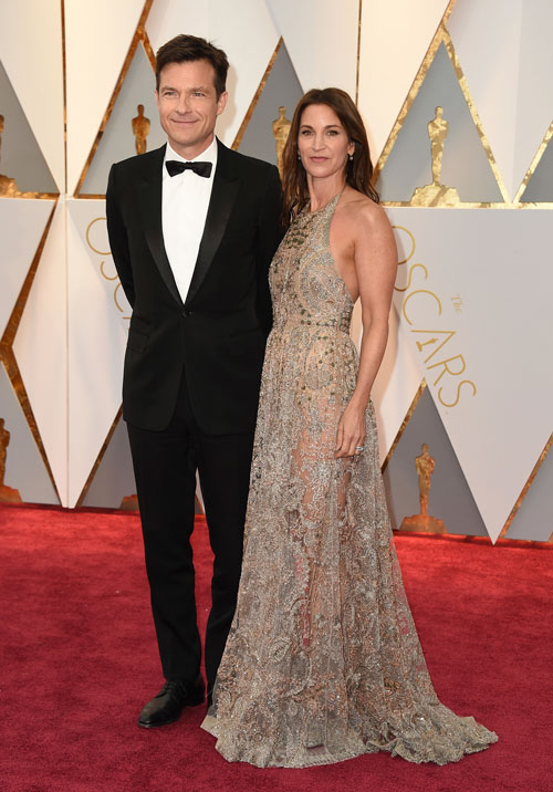 <div class='meta'><div class='origin-logo' data-origin='AP'></div><span class='caption-text' data-credit='Photo by Jordan Strauss/Invision/AP'>Jason Bateman, left, and Amanda Anka arrive at the Oscars on Sunday, Feb. 26, 2017, at the Dolby Theatre in Los Angeles.</span></div>