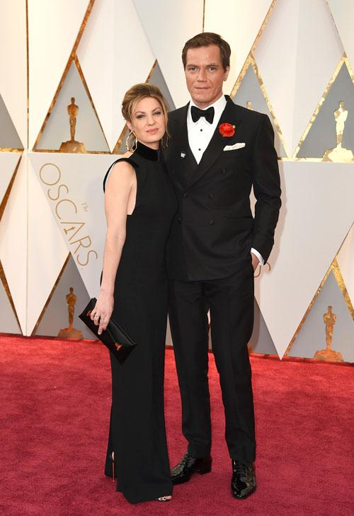 <div class='meta'><div class='origin-logo' data-origin='AP'></div><span class='caption-text' data-credit='Photo by Jordan Strauss/Invision/AP'>Kate Arrington, left, and Michael Shannon arrive at the Oscars on Sunday, Feb. 26, 2017, at the Dolby Theatre in Los Angeles.</span></div>