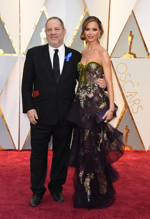 """<div class=""""meta image-caption""""><div class=""""origin-logo origin-image ap""""><span>AP</span></div><span class=""""caption-text"""">Harvey Weinstein, left, and Georgina Chapman arrive at the Oscars on Sunday, Feb. 26, 2017, at the Dolby Theatre in Los Angeles. (Photo by Jordan Strauss/Invision/AP)</span></div>"""