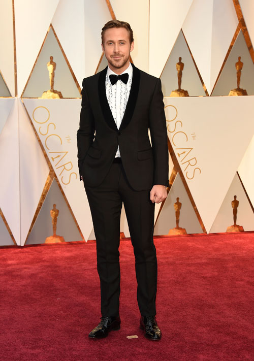 <div class='meta'><div class='origin-logo' data-origin='AP'></div><span class='caption-text' data-credit='Photo by Jordan Strauss/Invision/AP'>Ryan Gosling arrives at the Oscars on Sunday, Feb. 26, 2017, at the Dolby Theatre in Los Angeles.</span></div>