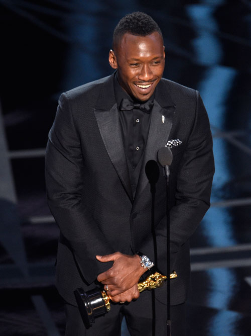<div class='meta'><div class='origin-logo' data-origin='AP'></div><span class='caption-text' data-credit='Photo by Chris Pizzello/Invision/AP'>Mahershala Ali accepts the award for best actor in a supporting role for &#34;Moonlight&#34; at the Oscars on Sunday, Feb. 26, 2017, at the Dolby Theatre in Los Angeles.</span></div>
