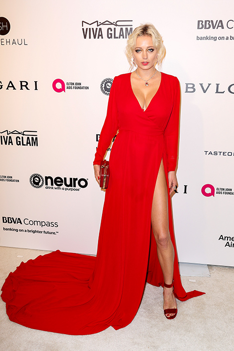 "<div class=""meta image-caption""><div class=""origin-logo origin-image ap""><span>AP</span></div><span class=""caption-text"">Caroline Vreeland arrives at the 2017 Elton John AIDS Foundation Oscar Viewing Party on Sunday, Feb. 27, 2017, in West Hollywood, Calif. (Willy Sanjuan/Invision/AP)</span></div>"