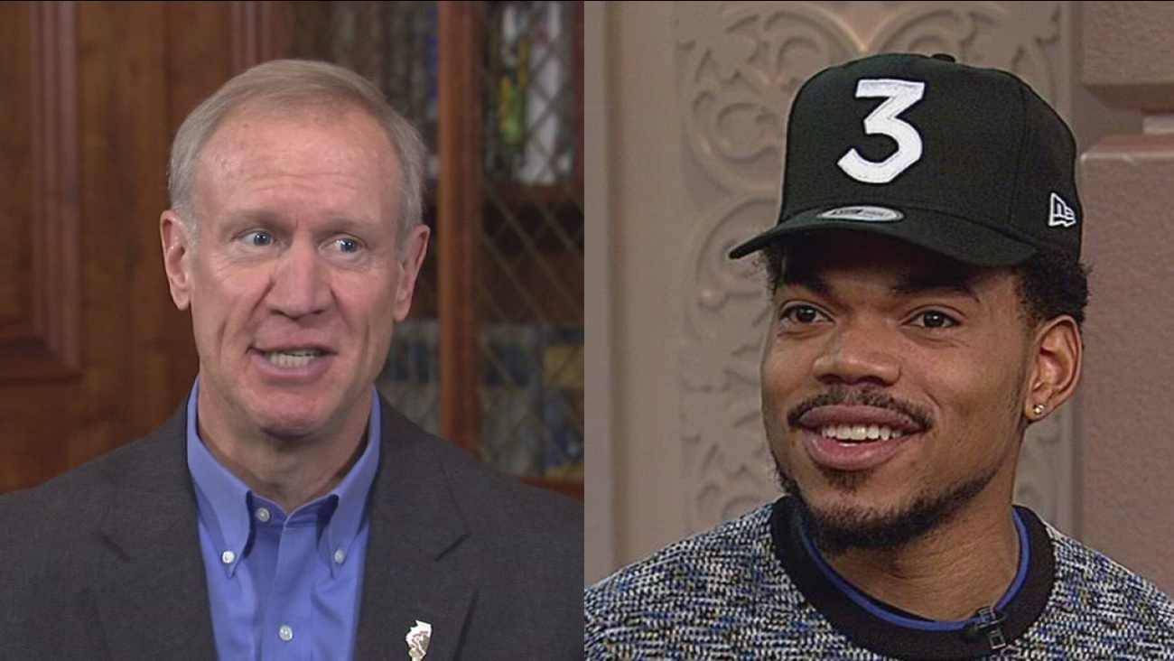 Gov. Bruce Rauner and Chance the Rapper