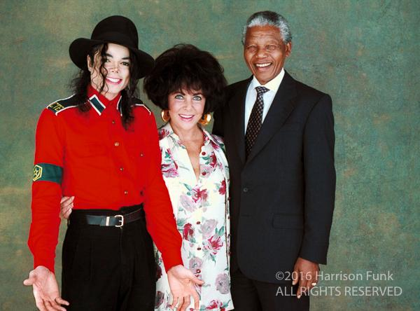 "<div class=""meta image-caption""><div class=""origin-logo origin-image none""><span>none</span></div><span class=""caption-text"">Michael Jackson, Elizabeth Taylor and Nelson Mandela are photographed in Los Angeles in 1993. (Harrison Funk/ALL RIGHTS RESERVED)</span></div>"