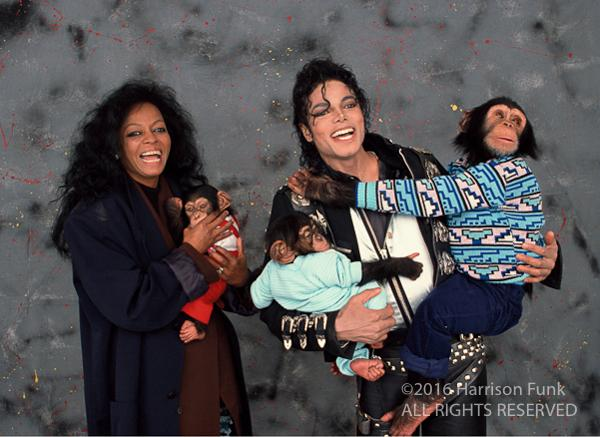 "<div class=""meta image-caption""><div class=""origin-logo origin-image none""><span>none</span></div><span class=""caption-text"">Diana Ross joins Michael Jackson for a picture with Bubbles. (Harrison Funk/ALL RIGHTS RESERVED)</span></div>"