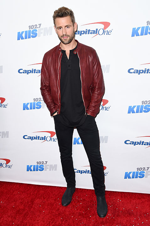 "<div class=""meta image-caption""><div class=""origin-logo origin-image none""><span>none</span></div><span class=""caption-text"">Nick Viall, who just got engaged on ''The Bachelor,'' is competing on this season of ''Dancing with the Stars.'' (Richard Shotwell/Invision/AP)</span></div>"