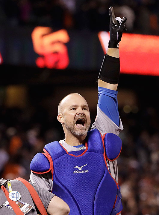 <div class='meta'><div class='origin-logo' data-origin='none'></div><span class='caption-text' data-credit='Marcio Jose Sanchez/AP Photo'>Former Chicago Cubs catcher David Ross is competing on this season of ''Dancing with the Stars.''</span></div>
