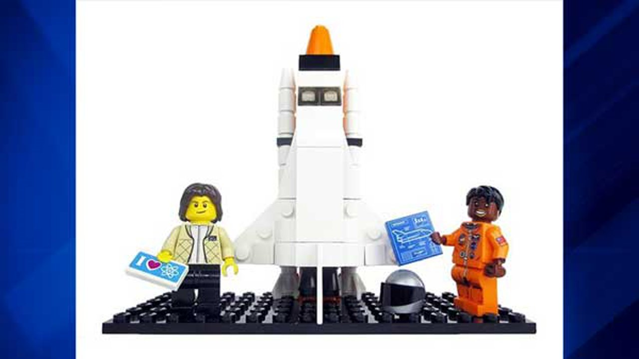 """The """"Women of NASA"""" Lego set was designed by science writer Maia Weinstock, the deputy editor of MIT News, and pitched with the headline """"Ladies rock outer space!"""""""