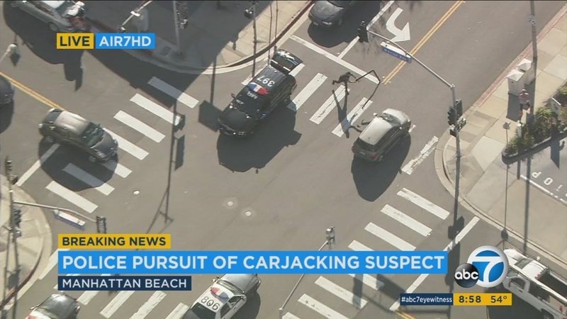 Carjacking suspect drives in reverse during wild chase through Los