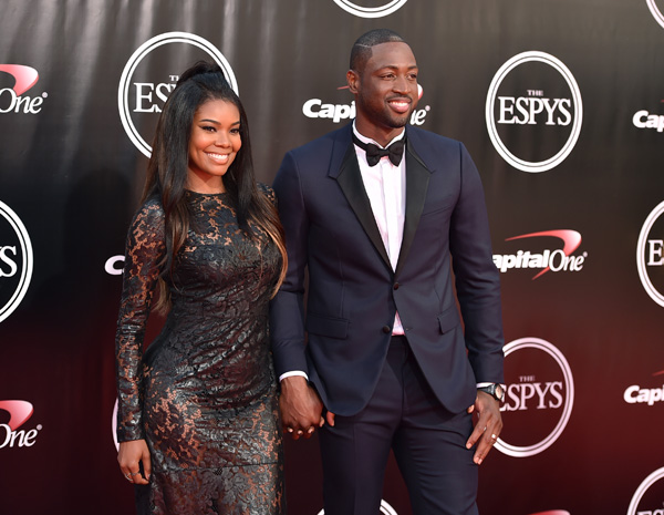 <div class='meta'><div class='origin-logo' data-origin='AP'></div><span class='caption-text' data-credit='Jordan Strauss/Invision/AP'>NBA player Dwyane Wade, right, and Gabrielle Union arrive at the ESPY Awards at the Microsoft Theater on Wednesday, July 13, 2016, in Los Angeles.</span></div>