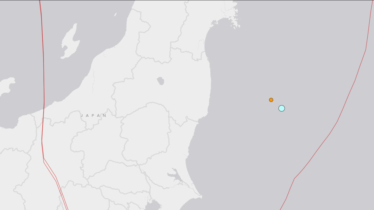 This U.S. Geological Survey map shows where an earthquake hit off the coast of Japan at 4:22 a.m. Saturday, July 12, 2014.