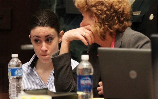 "<div class=""meta image-caption""><div class=""origin-logo origin-image none""><span>none</span></div><span class=""caption-text"">Casey Anthony with her attorney Dorothy Clay Sims on the last day of arguments in Anthony's murder trial at the Orange County Courthouse in Orlando, Fla. on Monday, July 4, 2011. (AP)</span></div>"