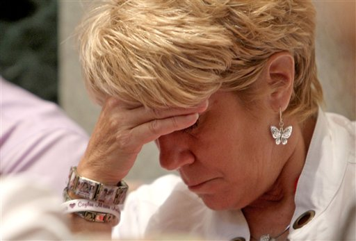"<div class=""meta image-caption""><div class=""origin-logo origin-image none""><span>none</span></div><span class=""caption-text"">Cindy Anthony, wearing bracelets in tribute to her granddaughter Caylee Anthony, listens during the final day of arguments in the trial of her daughter Casey Anthony. (AP)</span></div>"