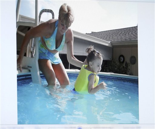 "<div class=""meta image-caption""><div class=""origin-logo origin-image none""><span>none</span></div><span class=""caption-text"">An image projected on a courtroom monitor showing Cindy Anthony, left, and her granddaughter Caylee at the family pool at their home. (ASSOCIATED PRESS)</span></div>"