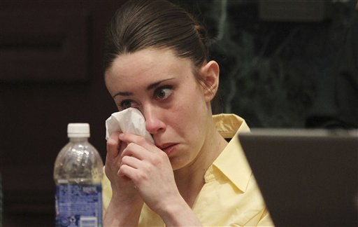 "<div class=""meta image-caption""><div class=""origin-logo origin-image none""><span>none</span></div><span class=""caption-text"">Casey Anthony reacts while listening to the defense's closing arguments in her murder trial in Orlando, Fla., Sunday, July 3, 2011. (ASSOCIATED PRESS)</span></div>"