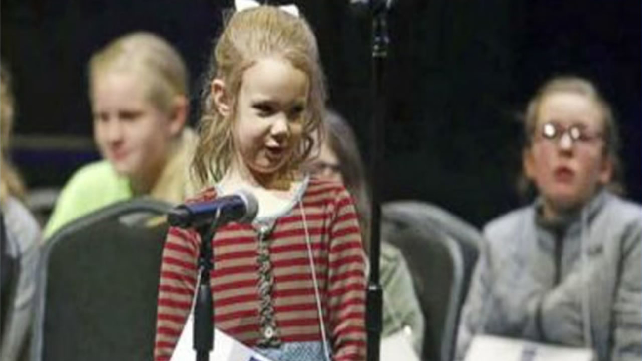 Edith Fuller, 5, appears in this undated image. She is the youngest person to ever qualify for the Scripps National Spelling Bee.