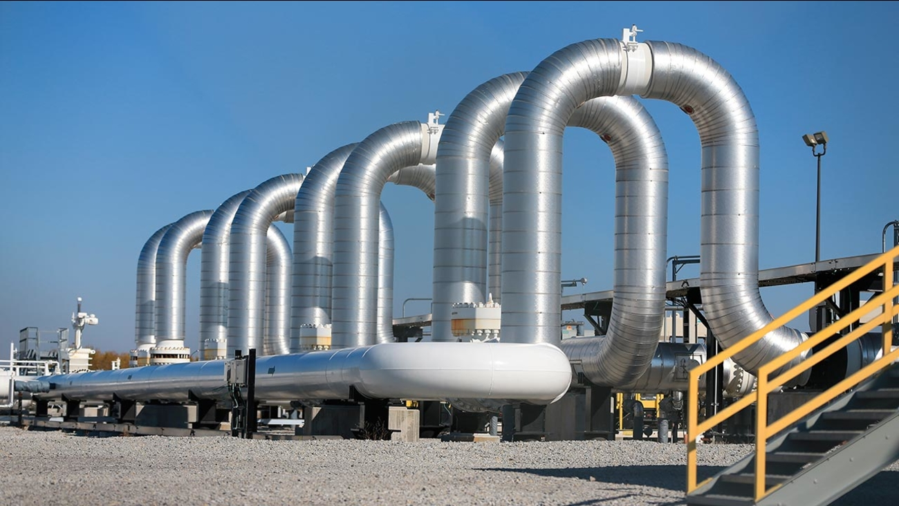 FILE:  The Keystone Steele City pumping station, into which the planned Keystone XL pipeline is to connect to, is seen in Steele City, Neb.