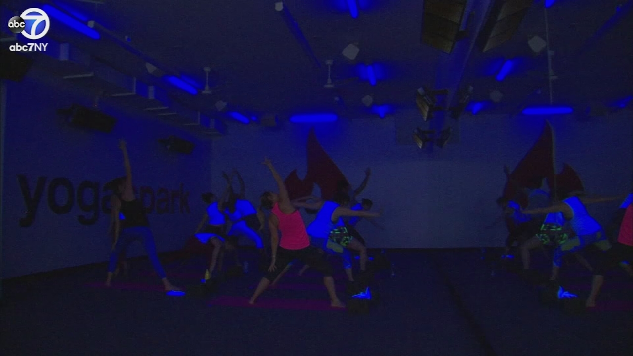 black light yoga in new york city