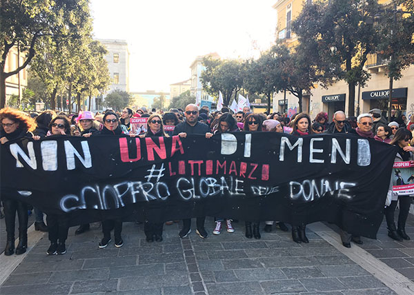 <div class='meta'><div class='origin-logo' data-origin='Creative Content'></div><span class='caption-text' data-credit='Daniela Santroni'>Groups gather in Pescara, Italy for International Women's Day.</span></div>