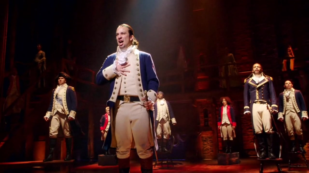 """A performance of """"Hamilton"""" is seen in this undated image."""
