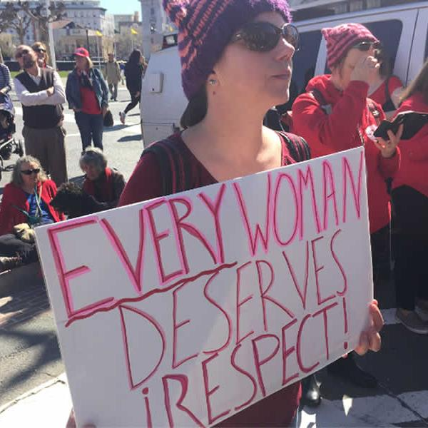 <div class='meta'><div class='origin-logo' data-origin='none'></div><span class='caption-text' data-credit='KGO-TV'>Women are seen taking part in an International Women's Day march in San Francisco, Calif. on Wednesday, March 8, 2017.</span></div>