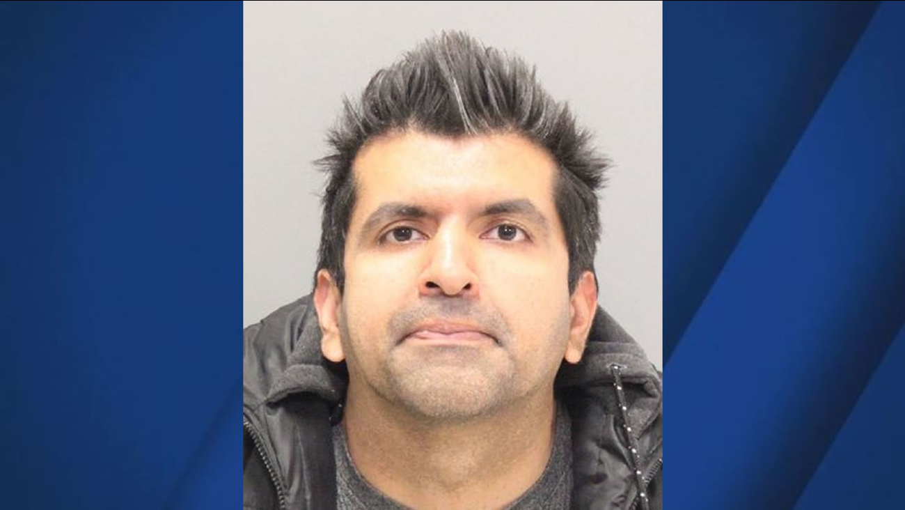 Raj Sanhi appears in his mugshot in Santa Clara, Calif. on March 8, 2017.