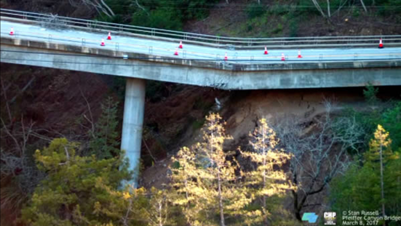 Pfeifer Canyon Bridge on the Cabrillo Highway in Big Sur, Calif. is seen on Wednesday, March 8, 2017.