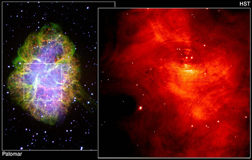"<div class=""meta image-caption""><div class=""origin-logo origin-image none""><span>none</span></div><span class=""caption-text"">CRAB NEBULA: The  remnant of a tremendous stellar explosion gives a look at the dynamic relationship between the tiny Crab Pulsar and the vast nebula that it powers. (Jeff Hester/Paul Scowen (Arizona State University)/NASA)</span></div>"